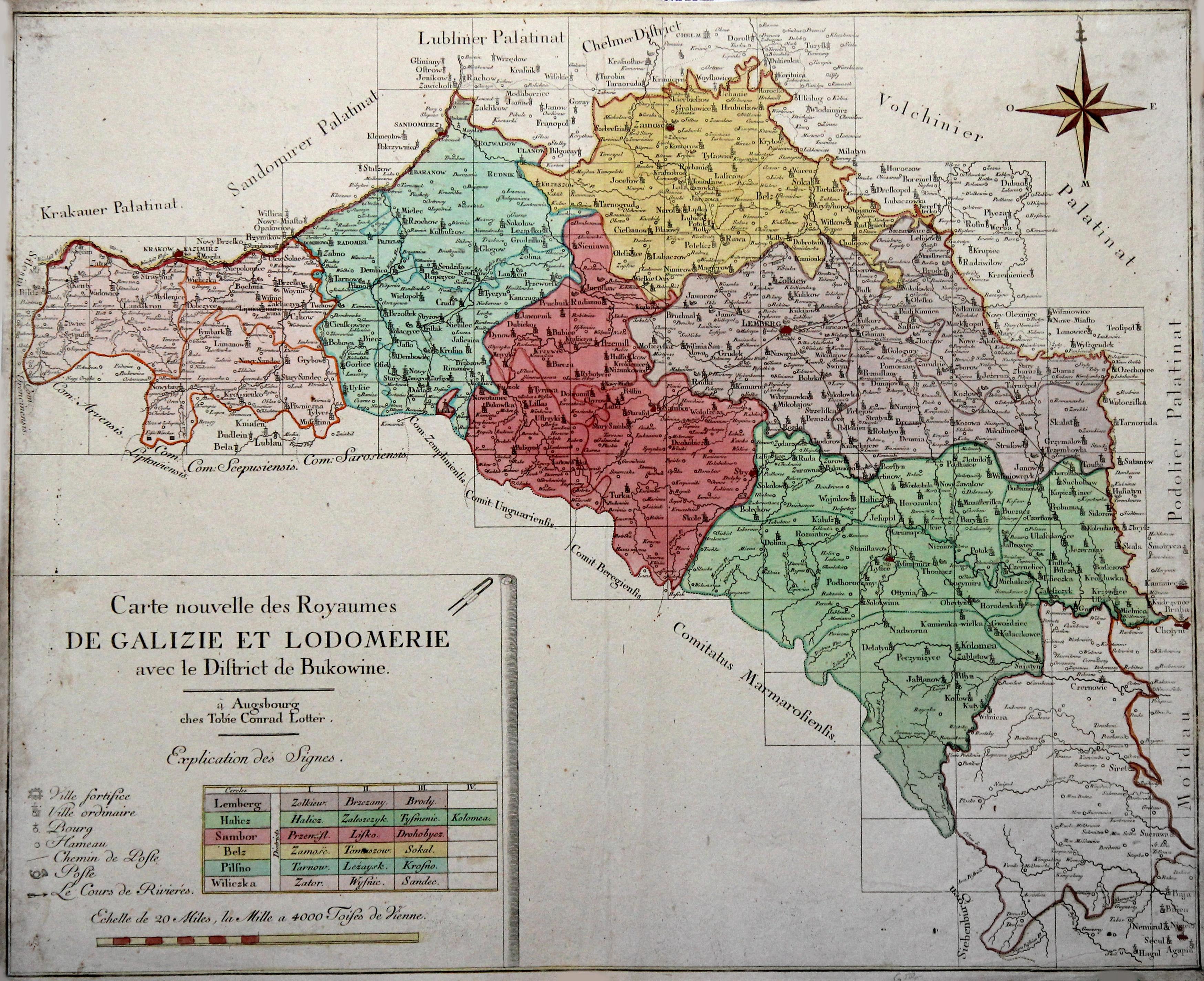 Galizien Karte.Kupferstich Karte V Von Galizien Zvab