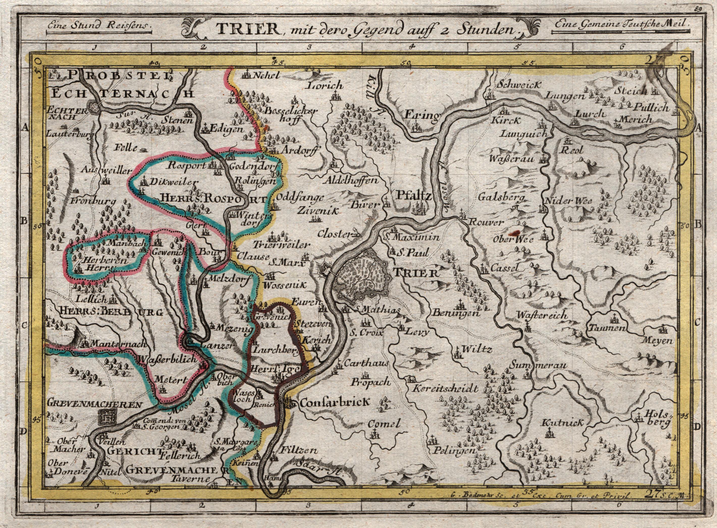 Bistum Trier Karte.Trier Von Trier Karten Zvab