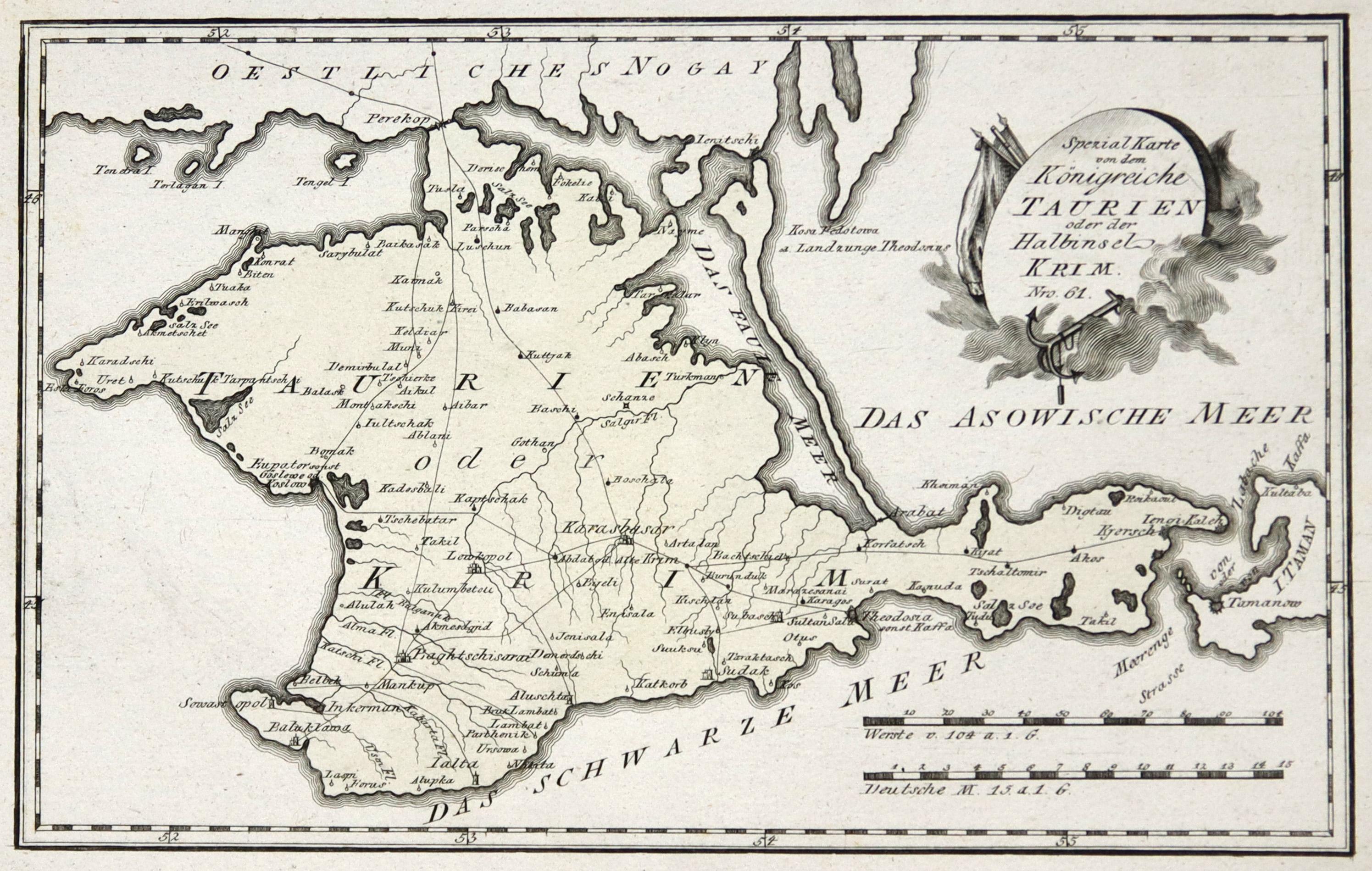 Kupferstich Karte B Reilly Spezial Karte Von Dem Konigreiche