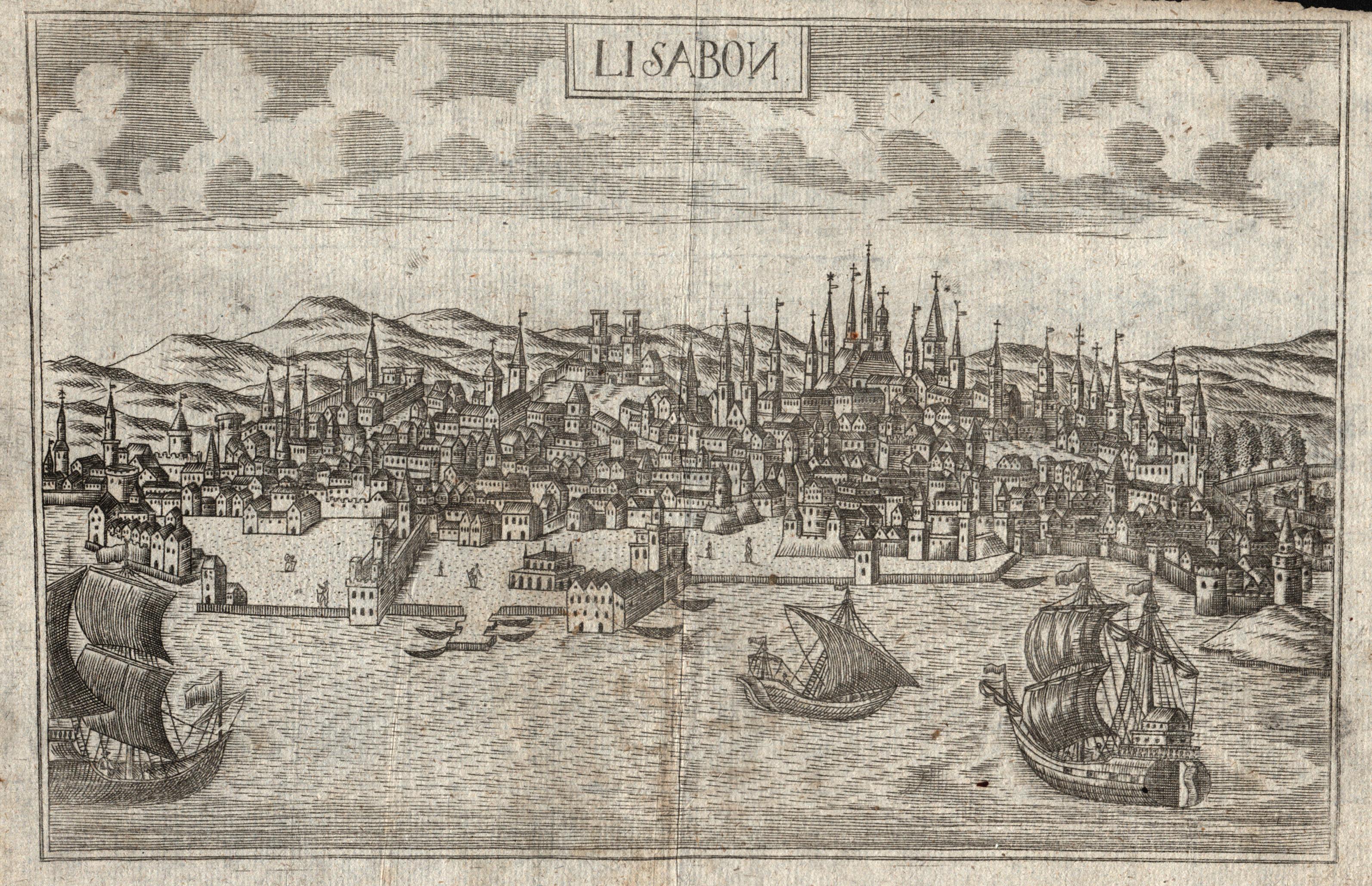 """Gesamtansicht, """"Lisabon"""".: Lissabon ( Lisboa"""