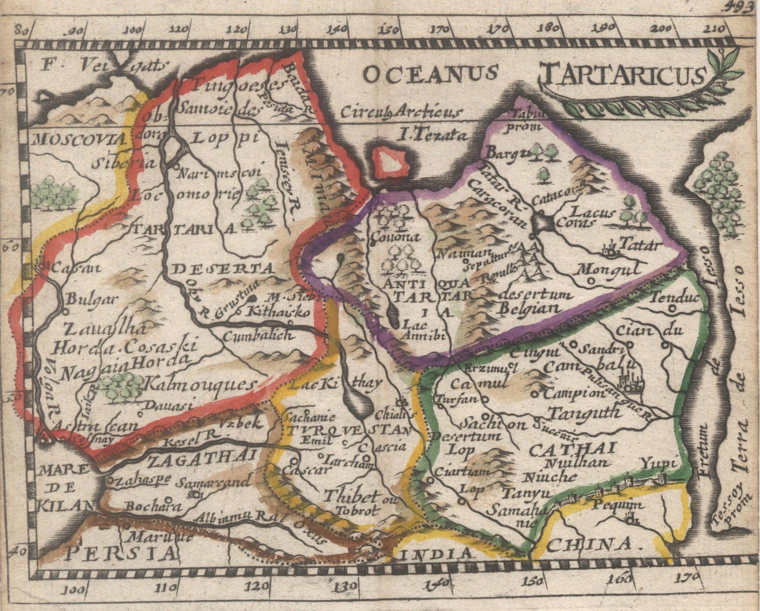 Karte Russland Asien.Kupferstich Karte Aus Duval Hoffmann