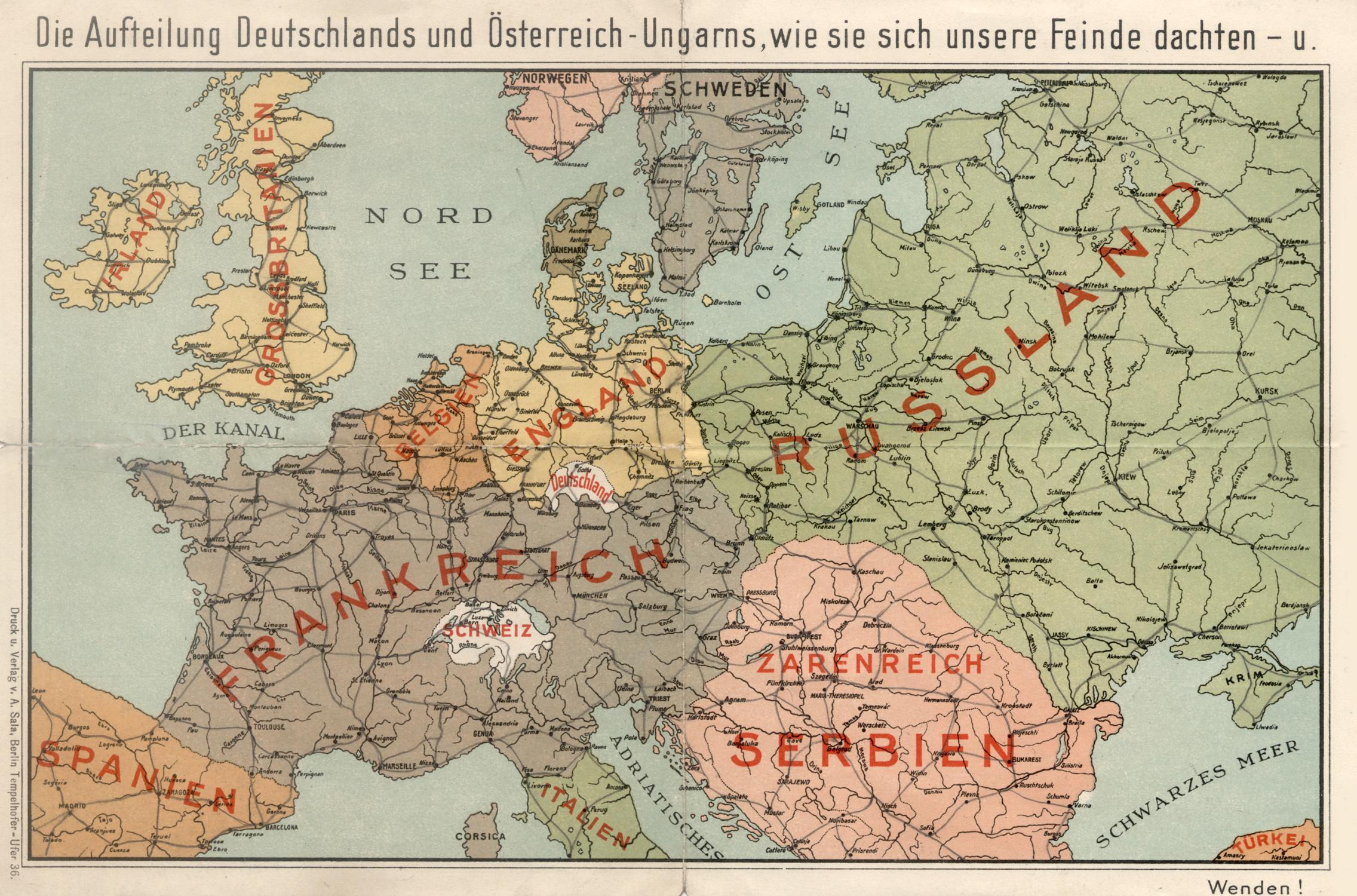 Karte Deutschland österreich.Farbendruck Karte B A Sala Berlin