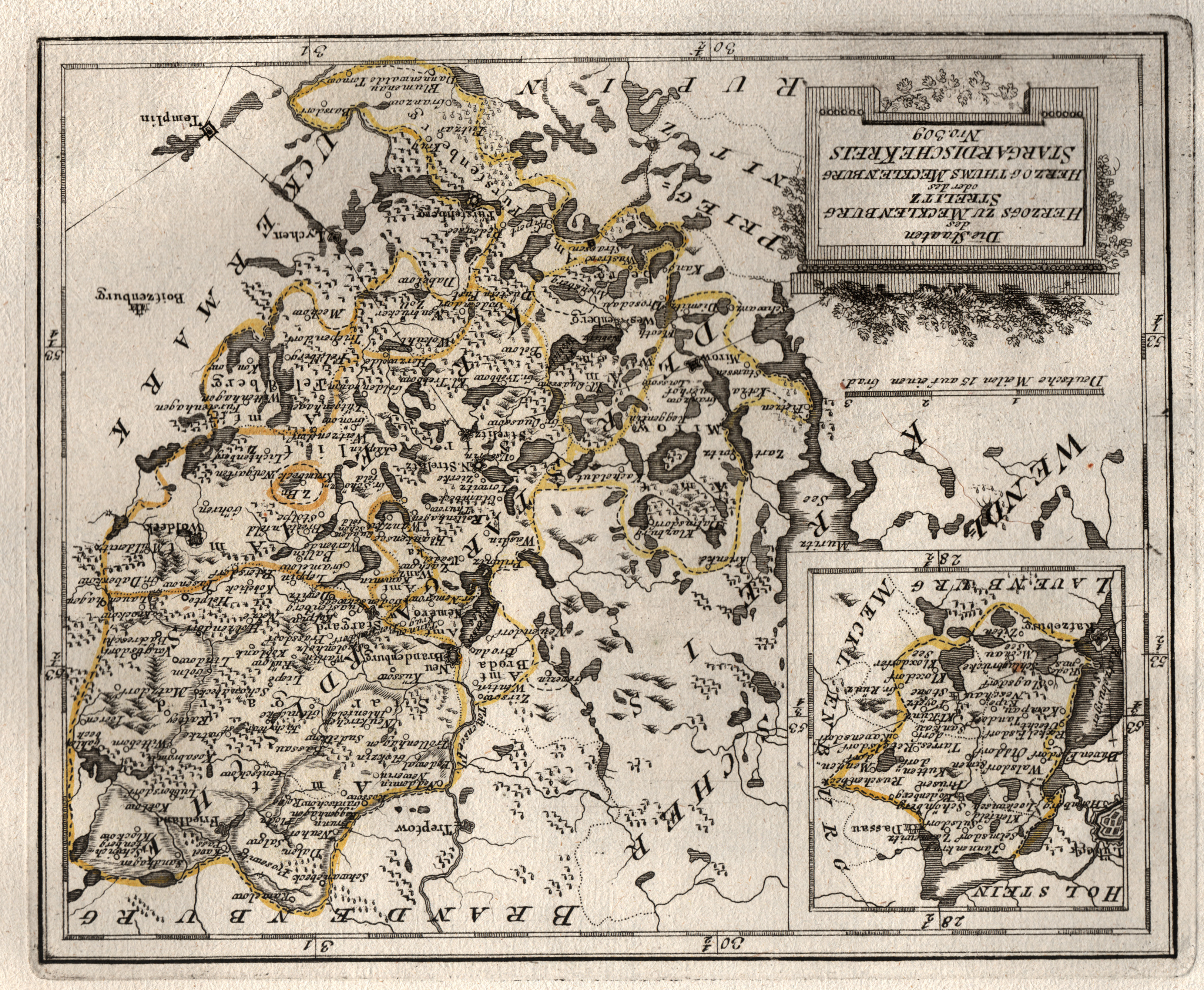 Kupferstich Karte B Reilly Die Staaten Des Herzogs Zu