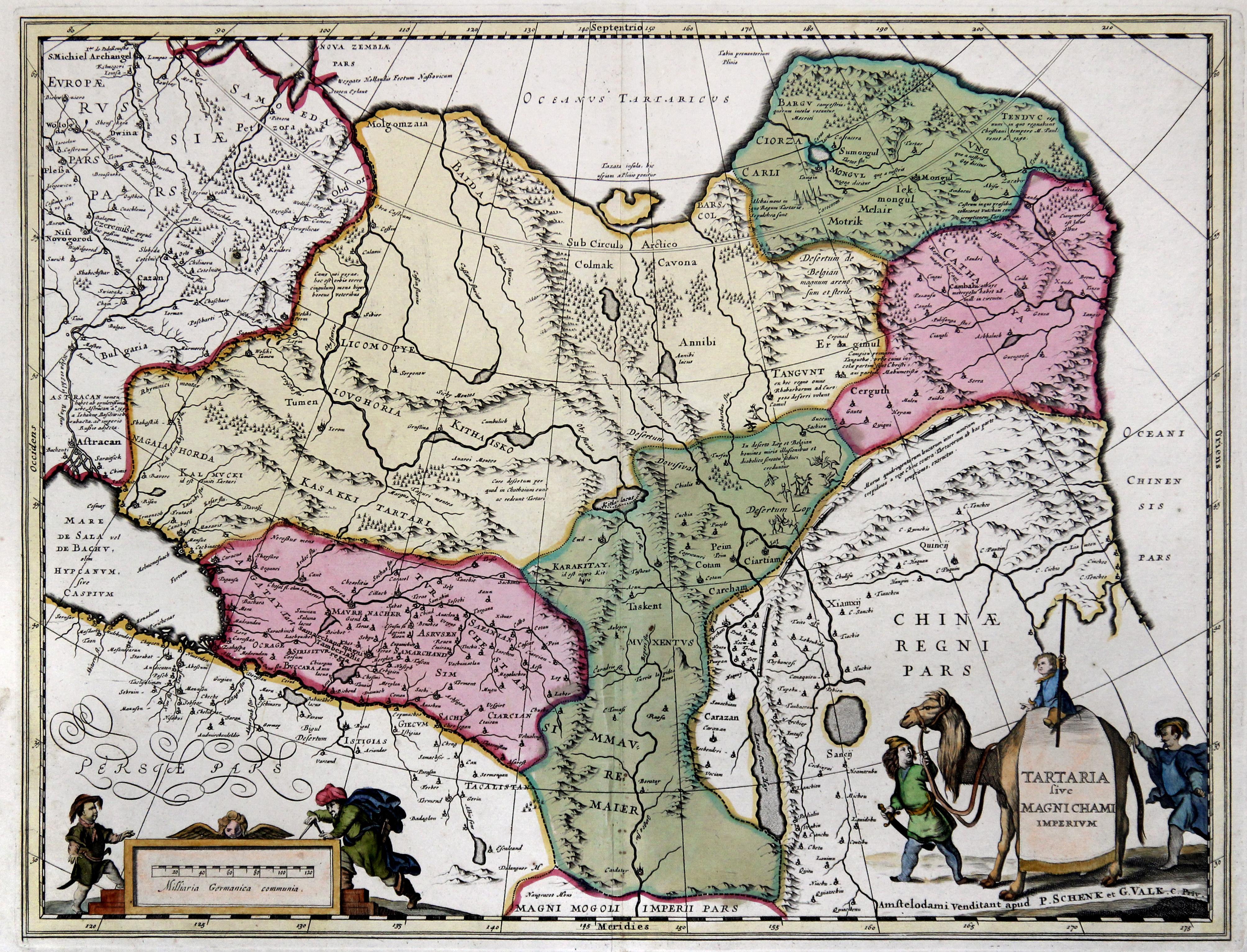 Karte Russland Asien.Kupferstich Karte B Schenk Und Valk