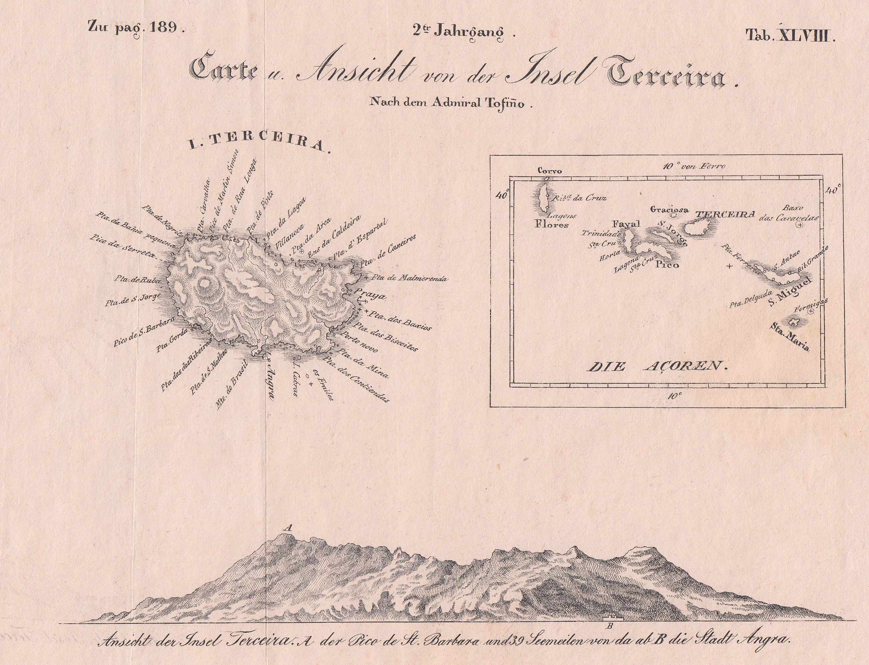 Azoren Karte.Ansicht Und Karte Von Azoren Zvab