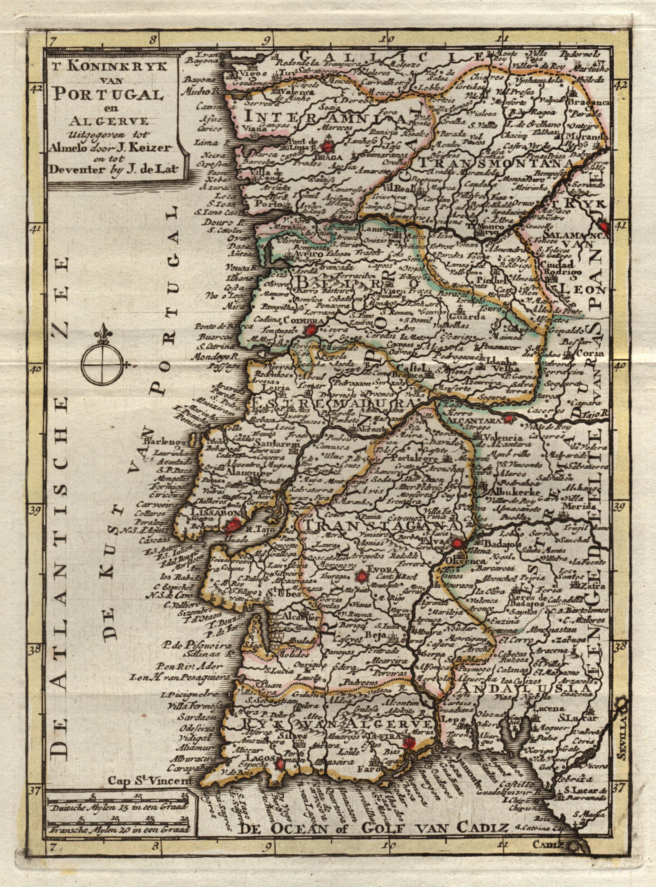 Porto Portugal Karte.Kupferstich Karte N J Keizer U Jan De
