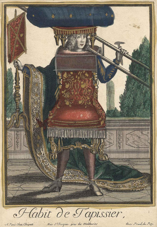 "Tapissier Paris 20 vialibri ~ habit, de tapissier"" ( teppichhersteller )."