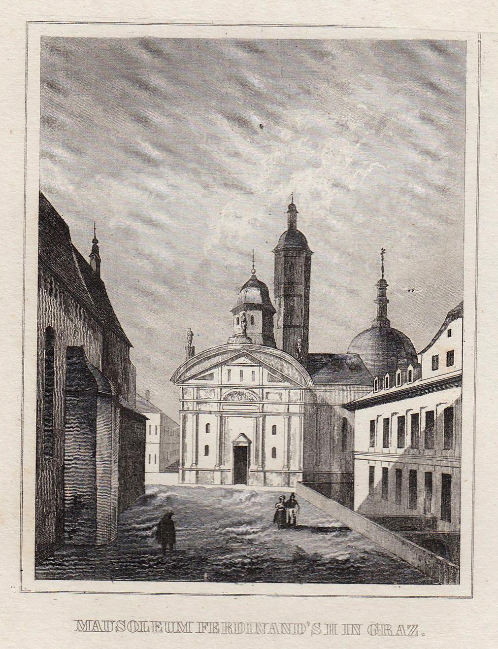 Teilansicht, Mausoleum Ferdinand's in.: Graz:
