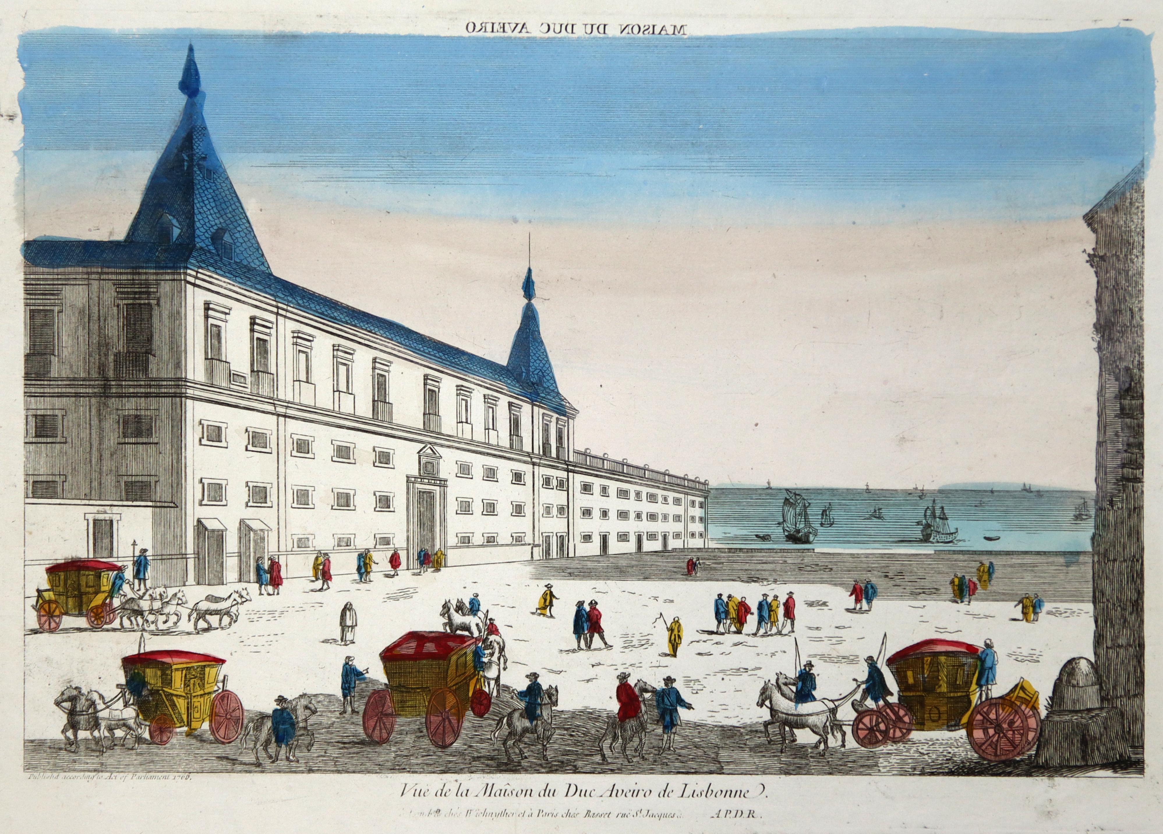 "Teilansicht, i. Hgr. der Atlantik, ""Vue de: Lissabon ( Lisboa"