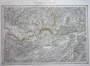 Karte des Erz-Herzogthums Oesterreich ob- und unter-der Enns reduziert und gezeichnet im Jahre 1813...