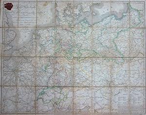 Post-Reise-Karte durch Deutschland und die angrenzenden Staaten zwischen Kopenhagen London und ...