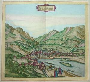 Oenipons, sive Enipontus, vulgo Inßpruck, Tirolensis comitatus urbs amplissima MDLXXV [...
