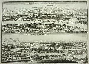 Veue Septentrionale de Vienne En Autriche. - Veue meridionale de Vienne En Autriche. [Wien]: de FER...