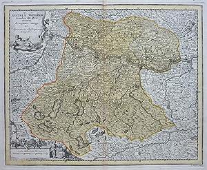 Austria Superior: Secundum IIII. Quadrantes & regiones contiguas.: KAUFFER, A.