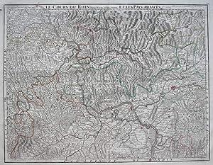 Le Cours du Rhin dépuis Worms jusqu' a Bonne et les Pays adjaces: DE L'ISLE, G. [...