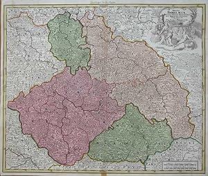 Regni Bohemiae, ducatus Silesiae, marchionatus Moraviae et Lusatiae Tabula generalis.: HOMANN, J.B.