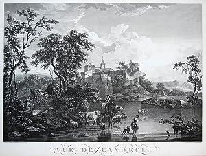 Vue de Landeck.: BRAND, F.A. und F. DEQUEVAUVILLER