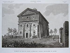 Tempio di Bacco, oggi S. Urbano nelle Vicinanze di Roma [Rom].: ZUCCAGNI-ORLANDINI, A.