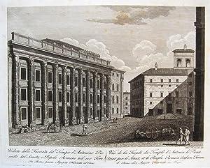 Veduta della Facciata del Tempio d'Antonino Pio eretto dal Senato, e Popolo Romano nel suo ...