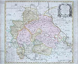 Accurate Geographische Delineation der Graffschafft Mannsfelt Sowohl Chur Sächsisch: als ...