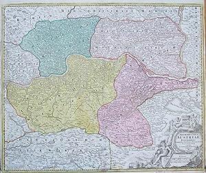 Archiducatus Austriae Inferioris in omnes suas quadrantes ditiones divisi, nova et exacta tabula e ...