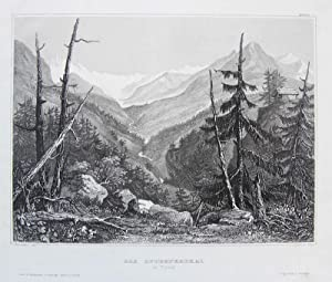 Das Stubeyerthal in Tyrol [Stubaital, Tirol].: BROKEDON