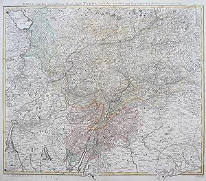 Karte von der gefürsteten Grafschaft Tyrol, nach den neuesten und bewaehrtesten Hü...