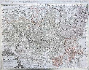 Carte de l'Electorat de Brandenbourg.: G�SSEFELD, F.L.