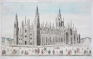 Vue perspective de la Cathédrale de Milan.: Mailand