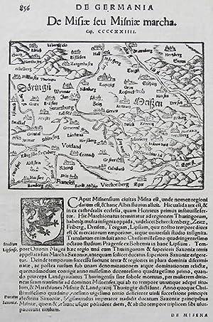 De Germania: De Misiae seu Misniae marcha.: MÜNSTER, Sebastian
