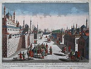 Prospect bey der Sultan Mechemets u: Selims Mosche zu Constantinopel.: Istanbul