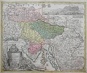 Tabula Ducatus Carnioliae, Vindorum Marchiae et Histriae.: HOMANN, J.B.