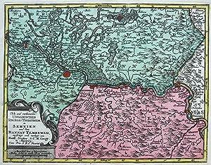Neu und verbessertes Ungarisches Kriegs-Theatrum in Servien und dem Bannat Temeswar [Banat, Serbien...