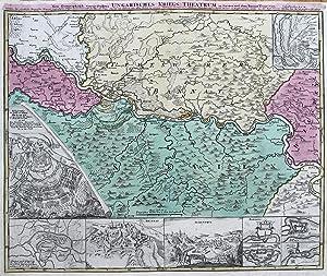 Neu-geographisch vorgestelltes ungarisches Kriegs-Theatrum in Servien und: HOMANN, J.B.