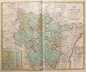 Charte von Lothringen und Barr Nebst den drey Bisthümern Metz, Toul und Verdun.: HOMANN Erben