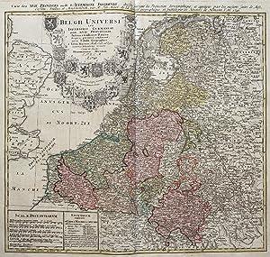 Belgii Universi seu Inferioris Germaniae quam XVII Provinciae Austriaco, Gallico et Batavo Sceptro ...