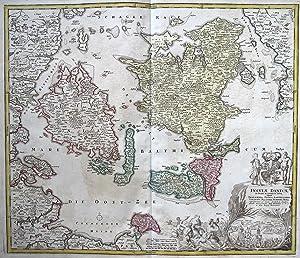 Insulae Danicae in Mari Balthico sitae utpote Zeelandia, Fionia, Langelandia, Lalandia, Falstria, ...