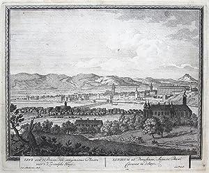 Linz aen de Donau, een aengenaeme Plaatz voor't Keyserlyke Huys. - Linzium ad Danubium, ...