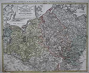 Carte Generale de Duche de Meklenburg. -: HOMANN Erben