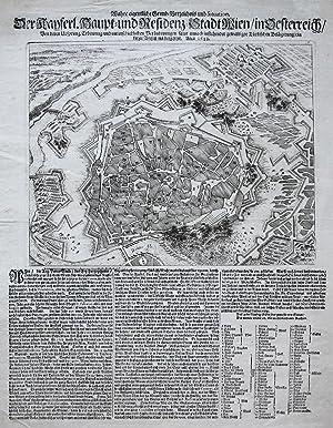 Wahre eigentliche Grund-Verzeichnis und Situation, Der Kayserl. Haupt- und Residenz-Stadt Wien, in ...