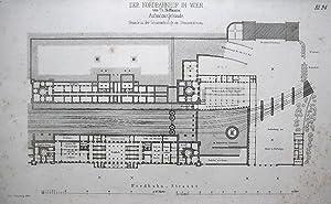 Der Nordbahnhof in Wien von Th. Hoffmann. Aufnahmsgebäude. Grundriss der Gesammtanlage im ...