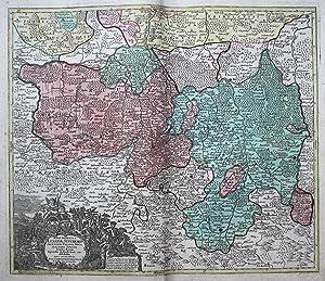 Marchionatus Lusatiae Superioris felicissimo Poloniae Regis electoris Saxoniae sceptro florens, ...