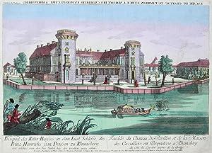 Prospect des Ritter Hauses in dem Lust Schlosse des Prinz Heinrichs von Preussen zu Rheinsberg, wie...