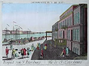 Prospect von St. Petersburg. - Vue de St. Petersbourg.: St. Petersburg