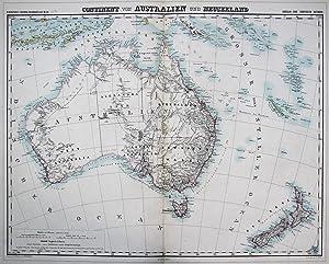 Continent von Australien und Neuseeland.: KIEPERT, H.