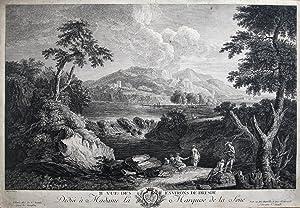 II Vue des Environs de Dresden Dedieé a Madame La Marquise de la Sone.: N�E, F.D. und C.W.E....