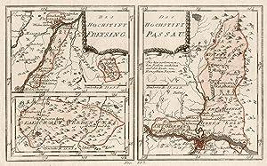 Kst.- Karte, b. Reilly, 2 Darstellungen auf: PASSAU und FREISING:
