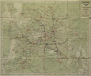 LINIENPLAN der Berliner Strassenbahn - Betriebs G.m.b.H.: BERLIN - STADTPLAN: