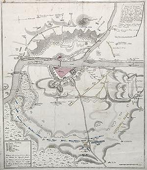 Stellung der Combinirten Armeen, und der Franzosen: MAINZ: BELAGERUNG 1793: