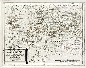 Nordhausen Karte.Kupferstich Karte B Reilly